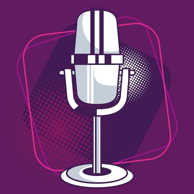 Караоке фиолетовый плакат