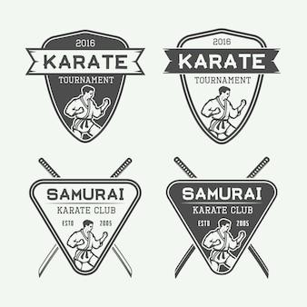 Karate emblems