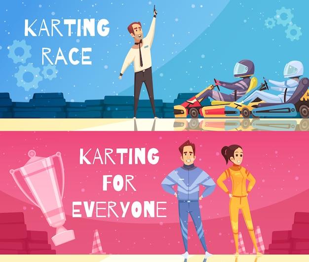Karting banner set