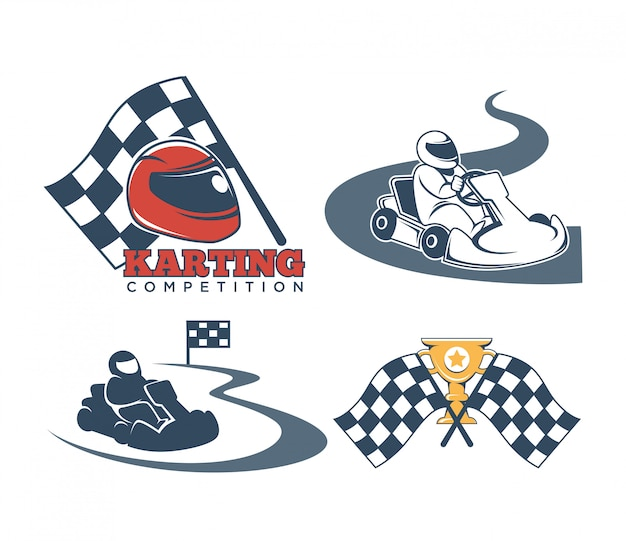 Karting label collection