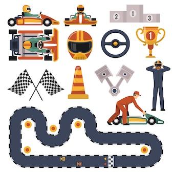 Set di karting motor race