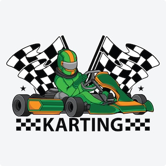 Karting racing design logo