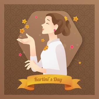 Kartini смелый женский герой с лентой