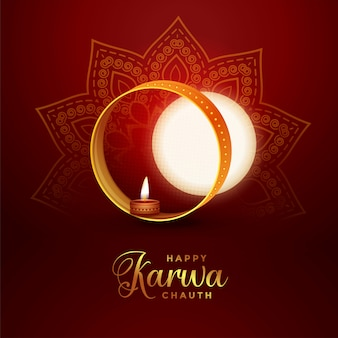 Karwa chauth festival celebration card