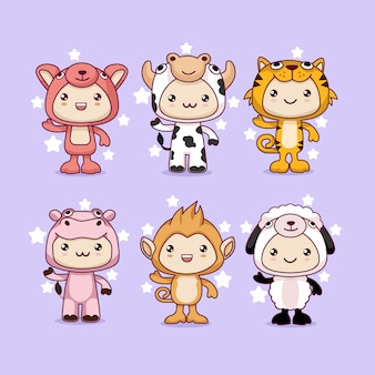 Kawaii animal cartoon costume