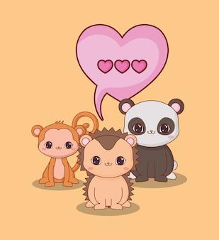 Кавайские животные и любовь