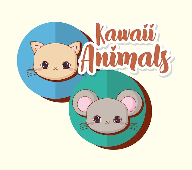 Kawaii animals design