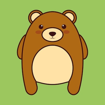 Kawaii bear animal icon