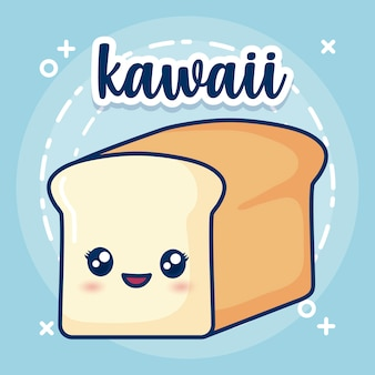 Kawaii bread icon