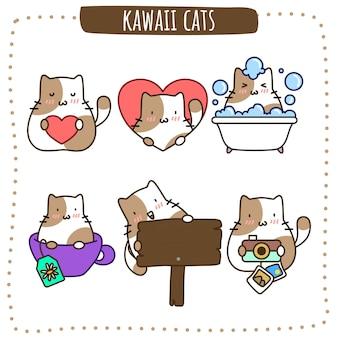 Kawaii brown cats