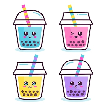 Kawaii bubble tea collection