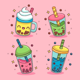 Kawaii bubble tea pack