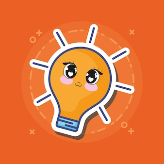 Kawaii bulb icon