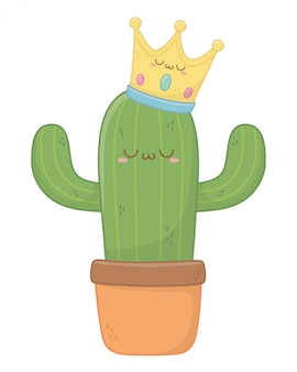 Kawaii of cactus cartoon