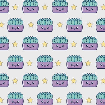 Kawaii cactus pot