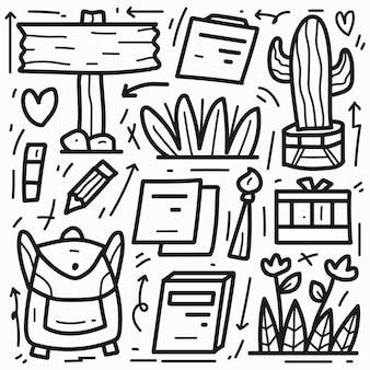 Каваи мультфильм каракули раскраски дизайн