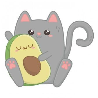 Kawaii of cat cartoon