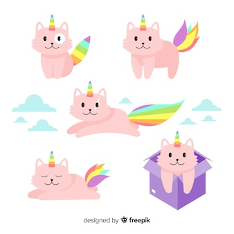 Kawaii caticorn коллекция символов