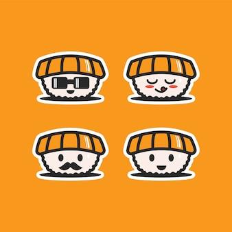 Kawaii the character of sushi food