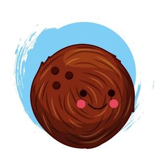Kawaii coconut character