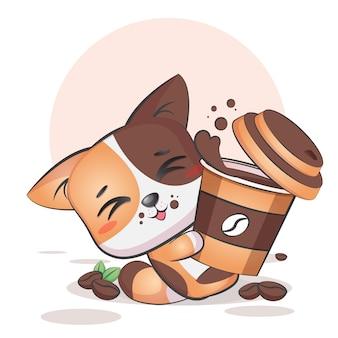 かわいいコーヒー猫