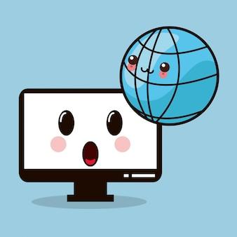 Kawaii computer monitor global