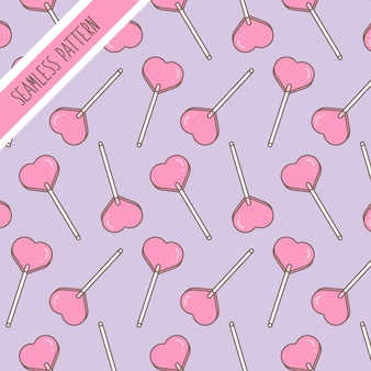 Kawaii cute cake candy sweets desserts seamless pattern