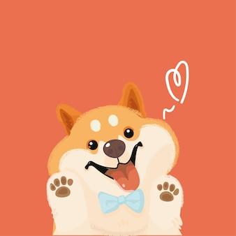 Kawaii cute corgi style cartoon character