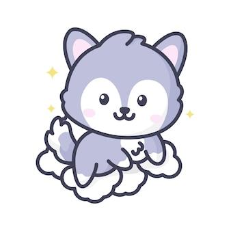 Kawaii cute fox mascot icon fox mascot logo vector graphic illustration