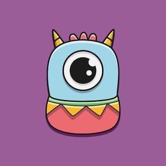Каваи каракули мультипликационный персонаж монстр дизайн иллюстрация