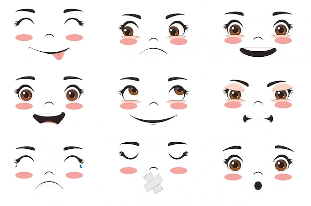 Kawaii выражения лица