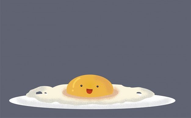 Kawaii fried egg.