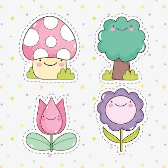귀여운 정원 스티커
