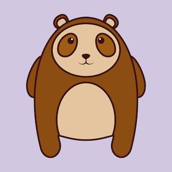 Kawaii goggle bear animal icon