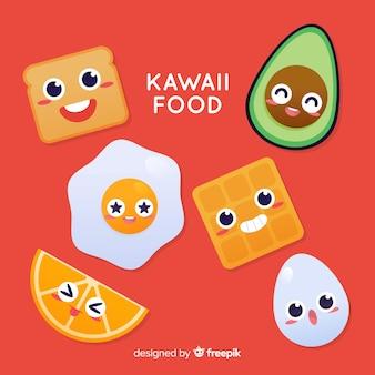 Kawaii hand drawn food collection