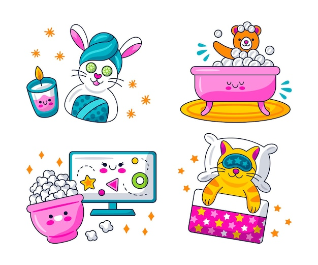 Kawaii holiday stickers collection