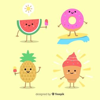 Kawaii ice cream characters