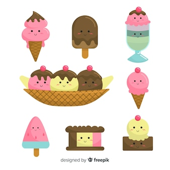 Kawaii ice cream collection