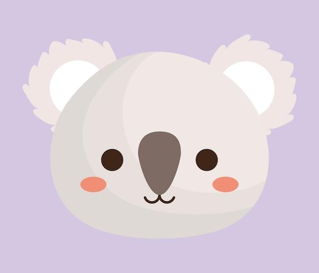 Kawaii koala animal icon