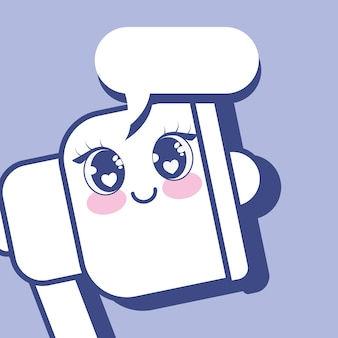 Kawaii 확성기 아이콘