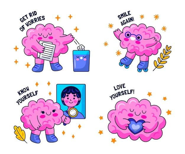 귀여운 정신 건강 스티커
