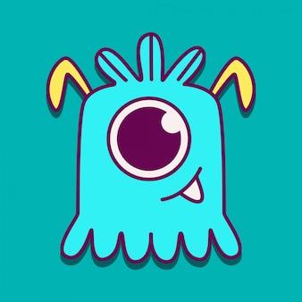 귀여운 괴물 낙서 디자인 서식 파일