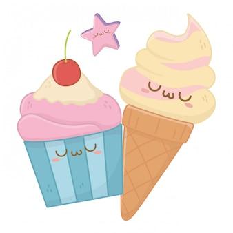 Каваи из мороженого мультфильм