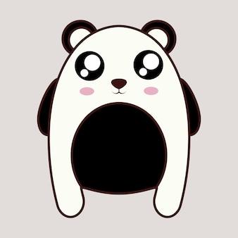 Kawaii panda bear animal icon