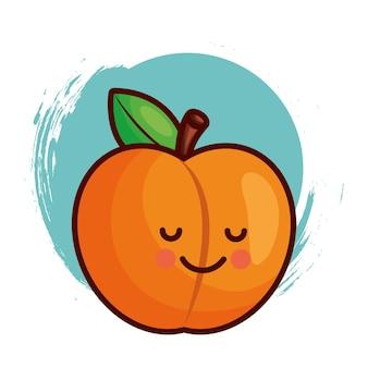 Kawaii peach character