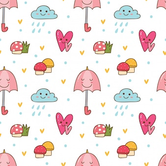 Kawaii seamless background