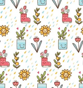 Kawaii spring background