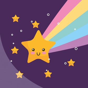 Каваи звезда радуга ночь погода