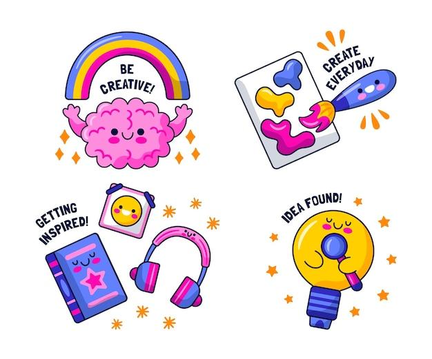 Kawaii sticker set