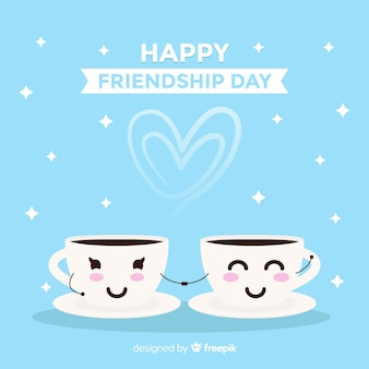 Kawaii style friendship day background